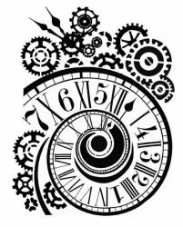 スタンペリア【Clock and mechanisms】 厚手 ステンシルシート♪ 20x25cm KSTD033 テンプレート エンボス Stamperia