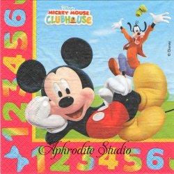 ディズニー ミッキーマウス クラブハウス 123 キャラクター 1枚 バラ売り 33cm ペーパーナプキン Disney