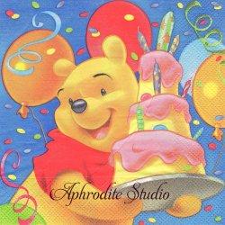 ディズニー くまのプーさん 3段ケーキ キャラクター 1枚 バラ売り 33cm ペーパーナプキン Disney