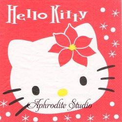 ハロー!キティ 大きなキティちゃん 1枚 バラ売り 33cm ペーパーナプキン Hello! Kitty サンリオ