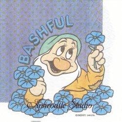 ディズニー 白雪姫 小人 こびと キャラクター 1枚 バラ売り 33cm ペーパーナプキン Disney