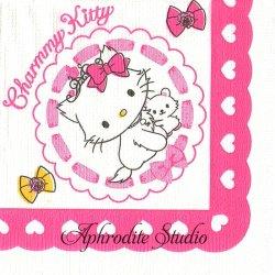 25cm ハロー!キティ Charmy Kitty チャーミー・キティ サンリオ キャラクター 1枚 バラ売り ペーパーナプキン Sanrio