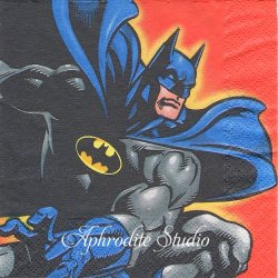25cm バットマン BATMAN キャラクター 1枚 バラ売り ペーパーナプキン MARVEL