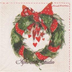 【新柄入荷】北欧 ハヴィ Wreath Minna Immonen 1枚 バラ売り 33cm ペーパーナプキン havi Suomen Kerta
