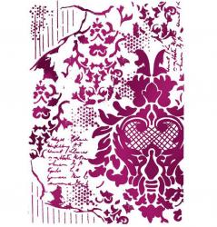 スタンペリア【Decoration withWritings】装飾と文字 ステンシルシート♪ 21x29.7cm KSG405 テンプレート エンボス Stamperia