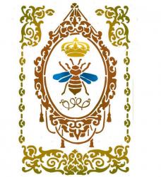 スタンペリア【Queen Bee】ミツバチ ステンシルシート♪ 21x29.7cm KSG413 テンプレート エンボス Stamperia
