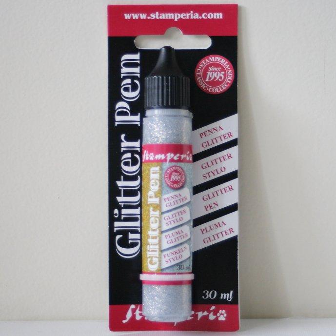 スタンペリア キラキラ グリッターペン シルバー Glitter pen 30 ml - Silver KE33B Stamperia