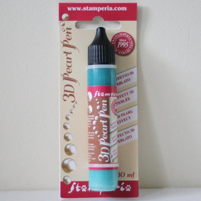 スタンペリア 真珠みたいな輝き パールペン ターコイズ Pearl pen 30 ml-Turquoise KE32D Stamperia