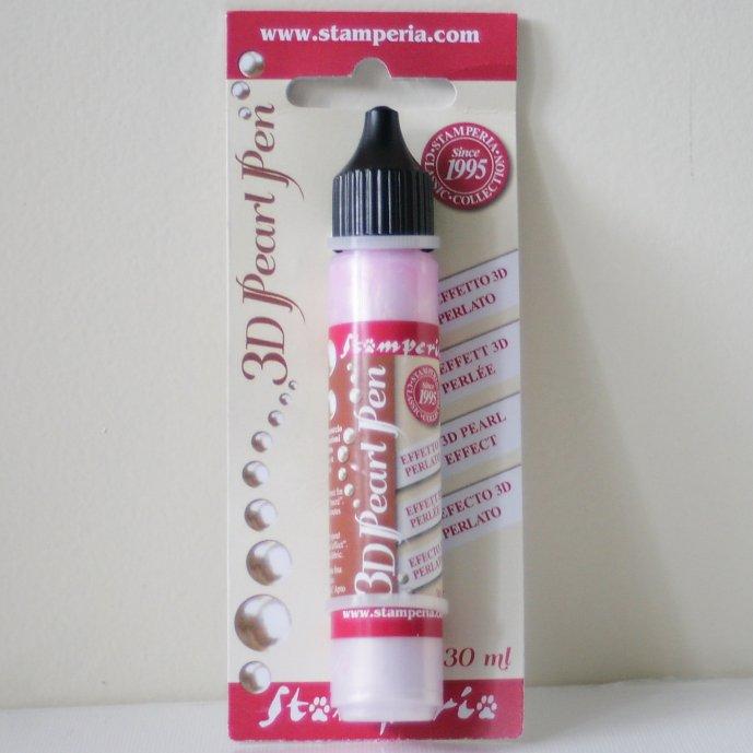 スタンペリア 真珠みたいな輝き パールペン ピンク Pearl pen 30 ml-Pink KE32C Stamperia