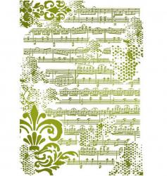 スタンペリア【Stave】楽譜と模様 ステンシルシート♪ 21x29.7cm KSG409 テンプレート エンボス Stamperia