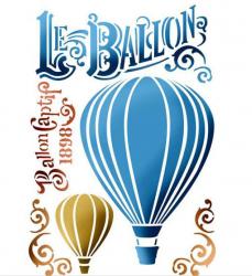 スタンペリア【Le ballon】バルーン 気球 ステンシルシート♪ 21x29.7cm KSG372 テンプレート エンボス Stamperia