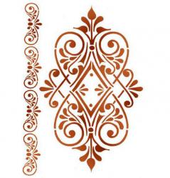 スタンペリア【Ornament with volute 】オーナメントと渦巻き ステンシルシート♪ 21x29.7cm KSG361 テンプレート エンボス Stamperia