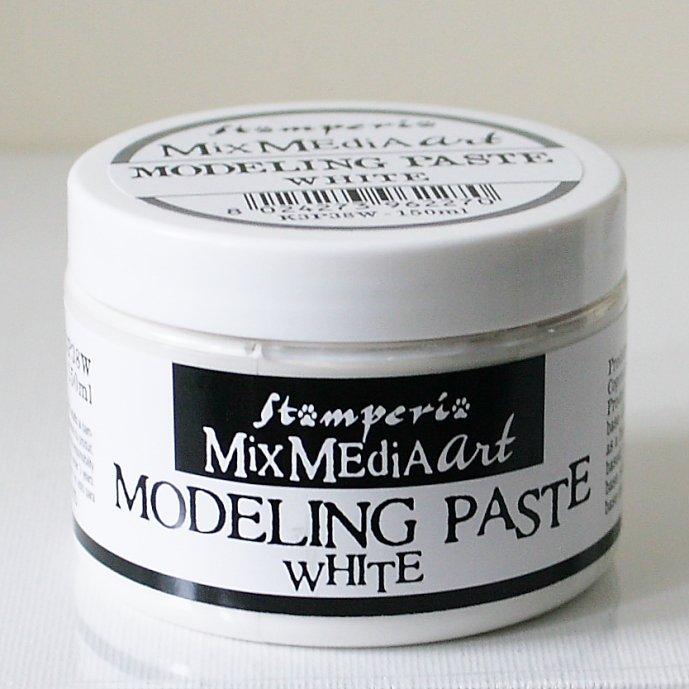 スタンペリア モデリングペースト ホワイトカラー Modelling paste 150ml White K3P38W STAMPERIA