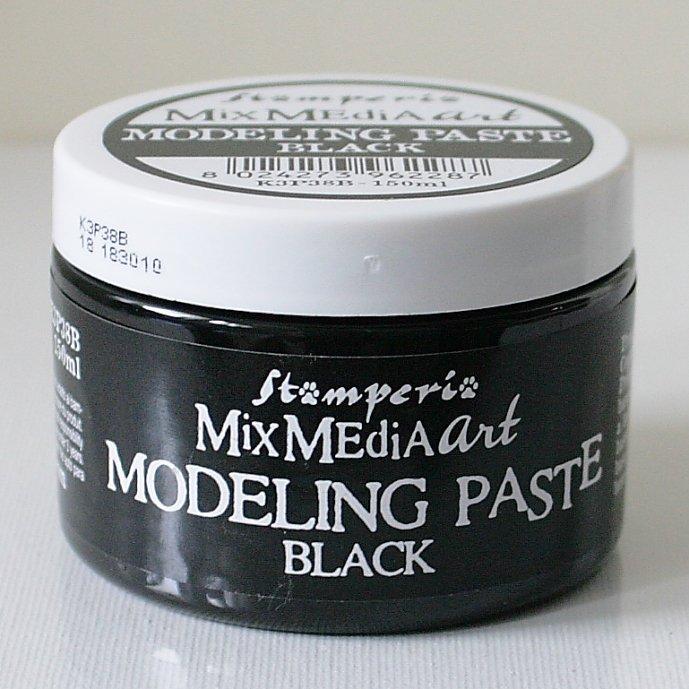 スタンペリア モデリングペースト ブラックカラー Modelling paste 150ml White K3P38B STAMPERIA