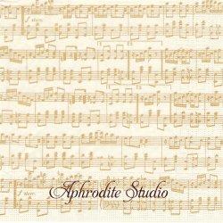 タソッティ Musica Oro 楽譜 ゴールド Tassotti 1枚 バラ売り 33cm ペーパーナプキン ppd