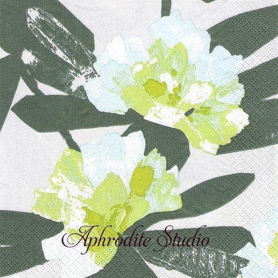 24cm 北欧 ペンティック ALPPIRUUSU ライトグリーン シャクナゲ 1枚 バラ売り ペーパーナプキン PENTIK