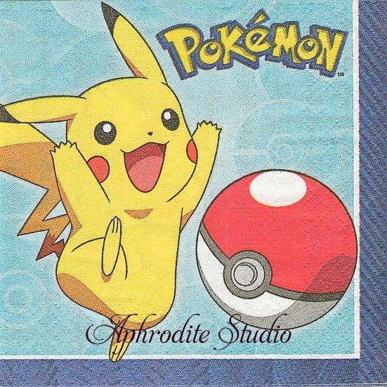 24.7cm ポケモン POKEMON CORE ピカチュウ キャラクター 1枚 バラ売り ペーパーナプキン 任天堂 Nintendo