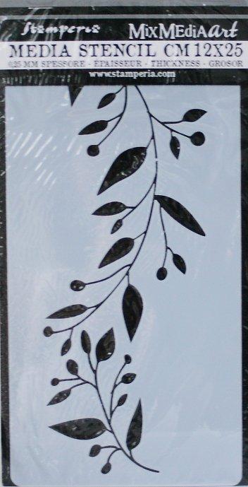 スタンペリア 【Edge with leaves】 厚手 ステンシルシート♪ 12x25cm KSTDL15 テンプレート エンボス Stamperia