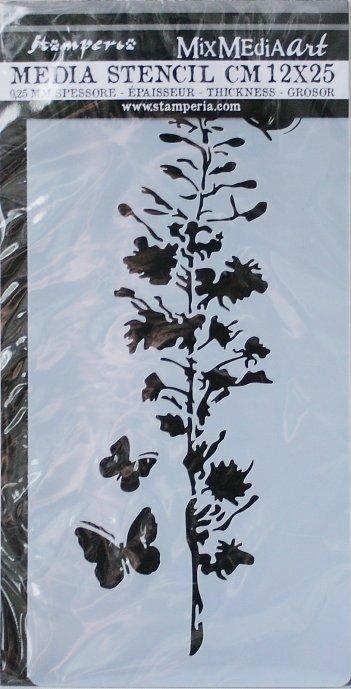 スタンペリア 【Branch】 厚手 ステンシルシート♪ 12x25cm KSTDL23 テンプレート エンボス Stamperia