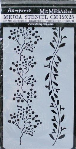 スタンペリア 【Bordure branches】 厚手 ステンシルシート♪ 12x25cm KSTDL03 テンプレート エンボス Stamperia