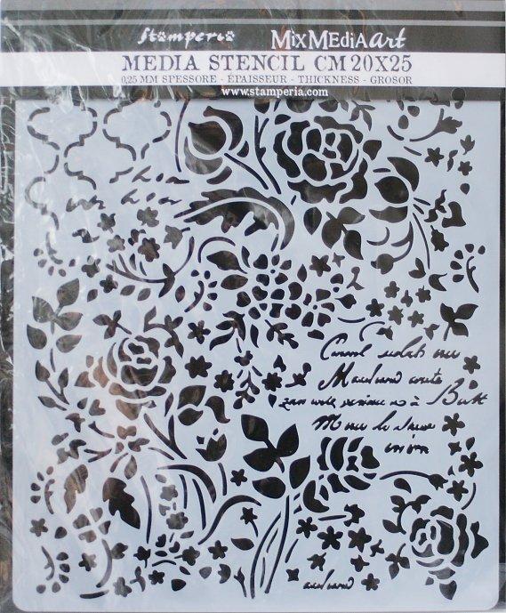 スタンペリア 【Floral Fantasy】 厚手 ステンシルシート♪ 20x25cm KSTD031 テンプレート エンボス Stamperia