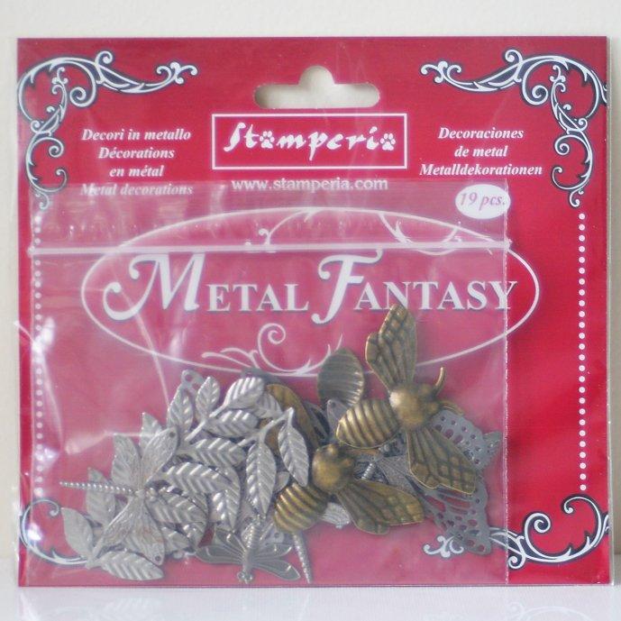 スタンペリア メタル エンベリッシュメント ネイチャー Metal fantasy selection Nature-16枚入 SBA382 Stamperia