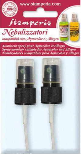 スタンペリア スプレーノズルの替え アクアカラーやミラーエフェクトに スプレーキャップ Aquacolor spray caps KRFSC デコパージュ Stamperia