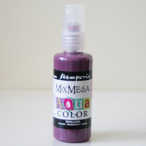 スタンペリア スプレー式絵の具 アクアカラー 【マホガニー】 Aquacolor spray 60ml-Mahogany KAQ010 Stamperia