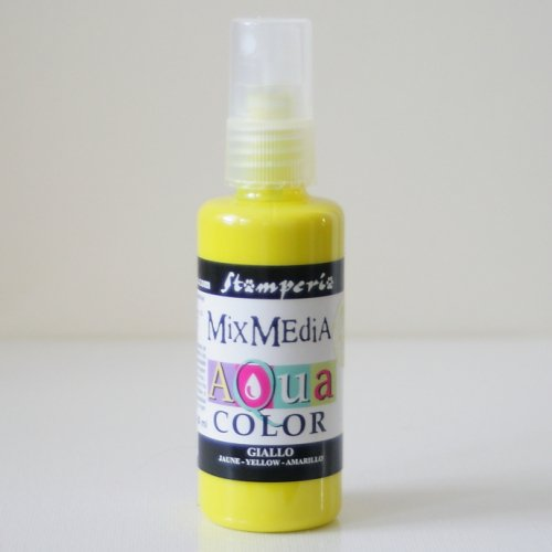 スタンペリア スプレー式絵の具 アクアカラー 【イエロー】 Aquacolor spray 60ml-Yellow KAQ005 Stamperia