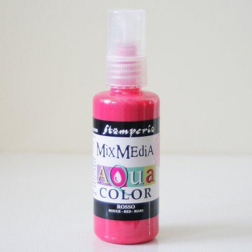 スタンペリア スプレー式絵の具 アクアカラー 【ルージュ】 Aquacolor spray 60ml-Rouge KAQ009 Stamperia