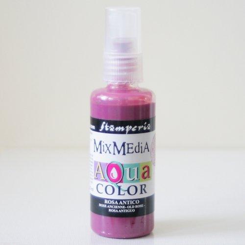 スタンペリア スプレー式絵の具 アクアカラー 【アンティークピンク】 Aquacolor spray 60ml-Antique Pink KAQ008 Stamperia