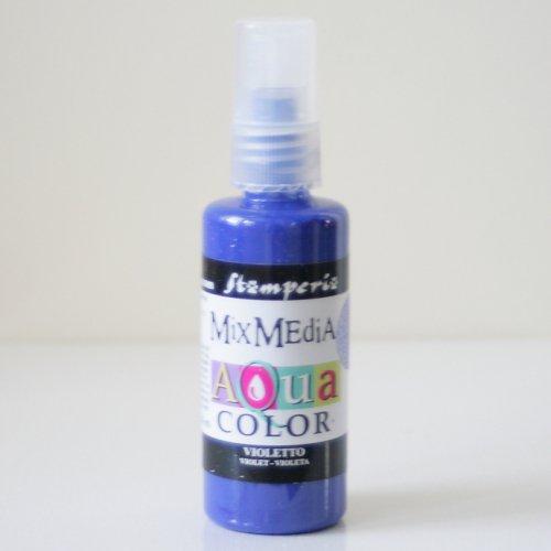 スタンペリア スプレー式絵の具 アクアカラー 【バイオレット】 Aquacolor spray 60ml-Violet KAQ013 Stamperia