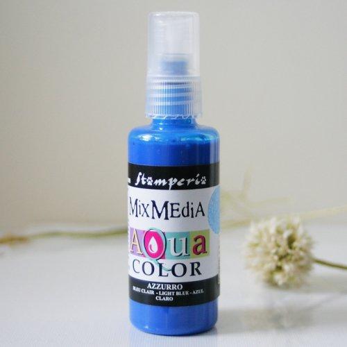 スタンペリア スプレー式絵の具 アクアカラー 【ライトブルー】 Aquacolor spray 60ml-Light Blue KAQ002 Stamperia