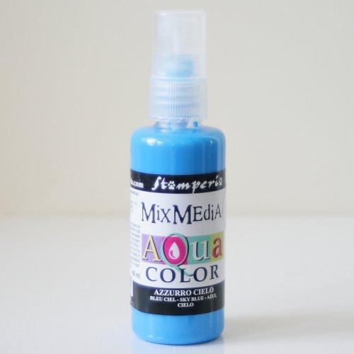 スタンペリア スプレー式絵の具 アクアカラー 【スカイブルー】 Aquacolor spray 60ml-Sky Blue KAQ016 Stamperia