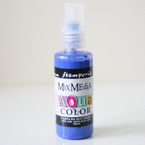 スタンペリア スプレー絵具 アクアカラー 【シュガーライトブルー】 Aquacolor spray 60ml-Carta da zucchero light blue KAQ012 Stamperia
