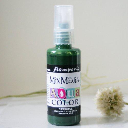 スタンペリア スプレー式絵の具 アクアカラー 【ダークグリーン】 Aquacolor spray 60ml-Dark green KAQ001 Stamperia