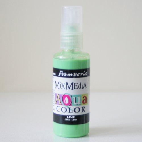 スタンペリア スプレー式絵の具 アクアカラー 【ライム】 Aquacolor spray 60ml-Lime KAQ014 Stamperia