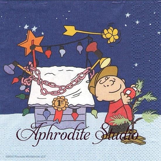 25cm 1パック16枚 未開封 スヌーピー ライナスのクリスマス SNOOPY ペーパーナプキン キャラクター PEANUTS
