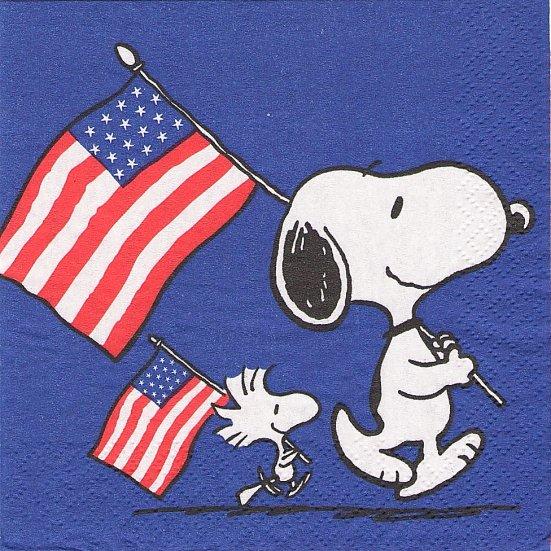 25cm 1パック16枚 未開封 スヌーピー アメリカの国旗 SNOOPY ペーパーナプキン キャラクター PEANUTS