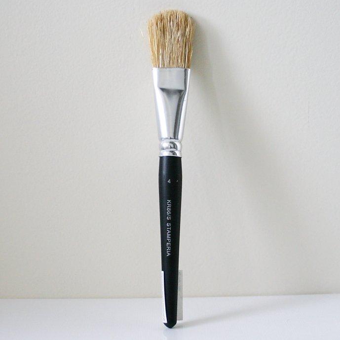 スタンペリア 筆 ブラシ Brush Standarino サイズ4  デコパージュ ツール KR86/S STAMPERIA