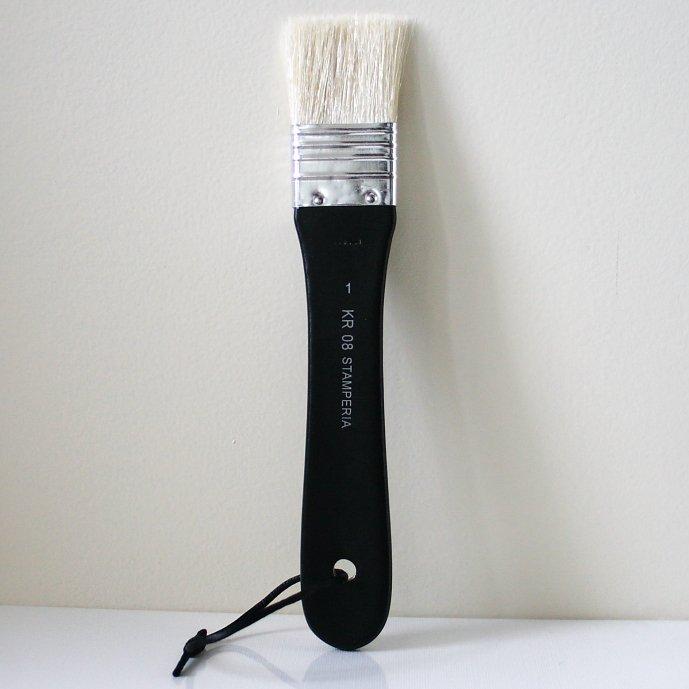 スタンペリア 平筆 ブラシ Flat point Brush サイズ1  デコパージュ ツール KR08 STAMPERIA
