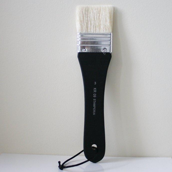 スタンペリア 平筆 ブラシ Flat point Brush サイズ3  デコパージュ ツール KR09 STAMPERIA