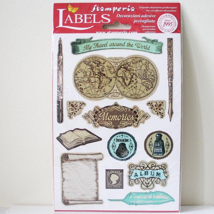 スタンペリア A5サイズ 装飾ラベル 【Memories】 Labels A5 DF3DA518 スクラップブッキング Stamperia