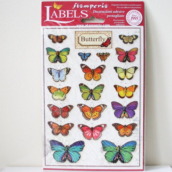 スタンペリア A5サイズ 装飾ラベル 【Butterfly 】 Labels A5 DF3DA520 スクラップブッキング Stamperia