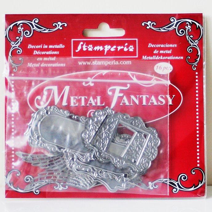 スタンペリア メタルファンタジー エンベリッシュメント ラベル プラケット Metal fantasy selection Plaquette-16枚入 SBA383 Stamperia