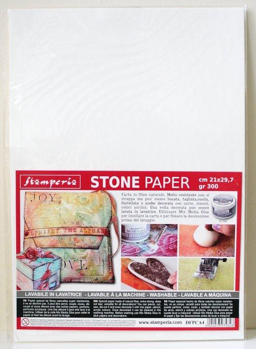 スタンペリア 石から出来た強い紙 ストーンペーパー A4サイズ 厚紙 Stone paper A4 DFPCA4 Stamperia