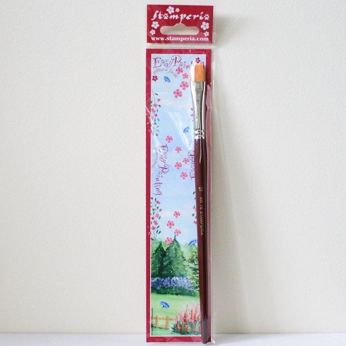 スタンペリア 平筆 ブラシ Flat point Brush サイズ12  デコパージュ ツール KR78 STAMPERIA