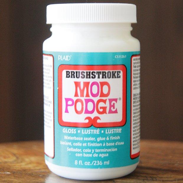 モッドポッジ ブラシのあとを残す デコパージュのり ブラシストローク グロス 艶ありタイプ MOD PODGE BRUSHSTROKE GLOSS 236ml