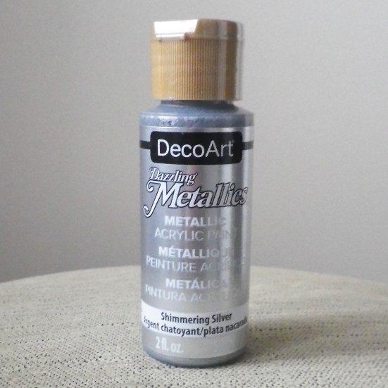 アメリカーナ メタリックカラー シマリングシルバー 絵の具 59ml デコパージュ トールペイント 材料