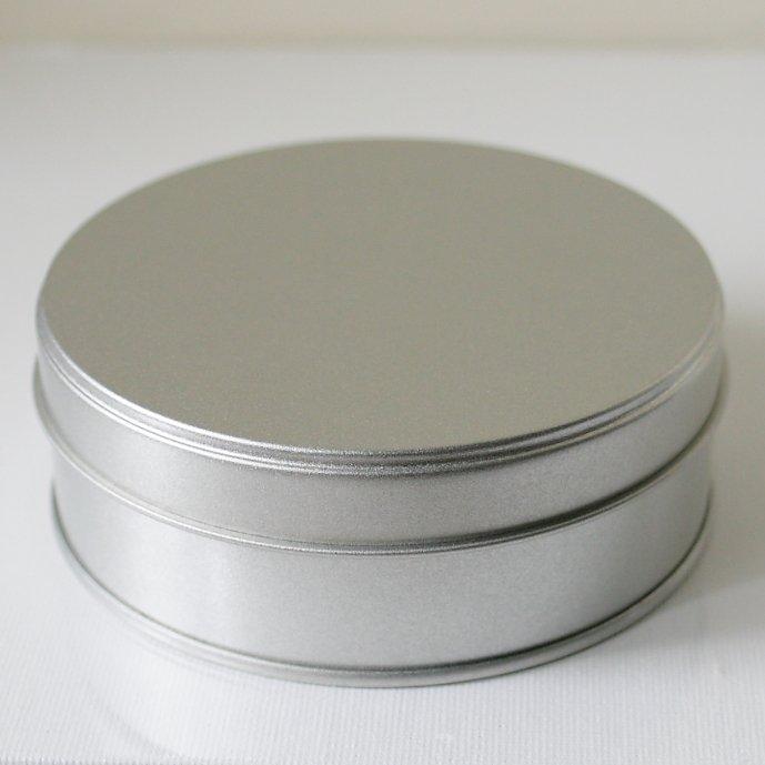 プレーン缶 ラウンド 丸 小物入れ 直径10.4x3.7cm デコパージュ 素材